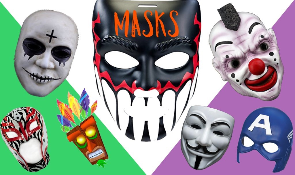 Fancy Dress - adult masks - children masks - wrestling masks - Toys and Masks