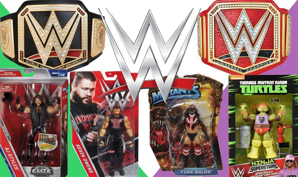 WWE Mattel Wrestling Action Figures - Toys and Masks