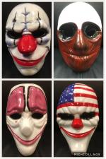 Payday Full Mask Set - Payday Game Replica Mask Cosplay