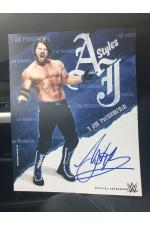 AJ Styles Hand Signed Picture