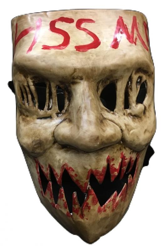 The purge election year kiss me halloween cosplay mask for Kiss mask template