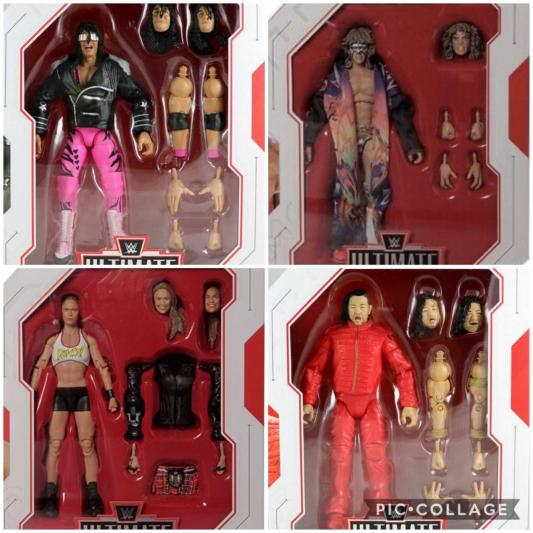 ALL 4 Ultimate edition series 1 and 2 wrestling figures